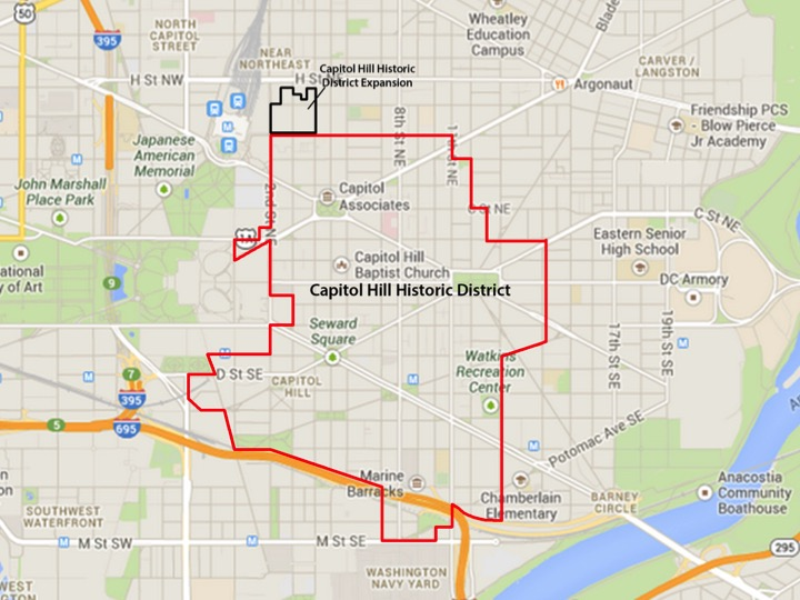 Capitol Hill Historic District Map
