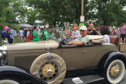 Mike Pangia in his Model A Ford Roadster